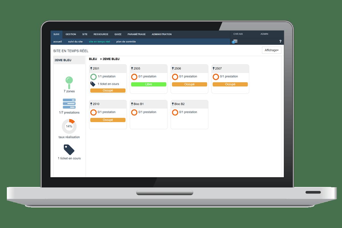 mobiServ, solution de traçabilité du nettoyage : Reporting et pilotage